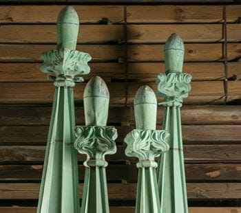 Vintage Copper Finials