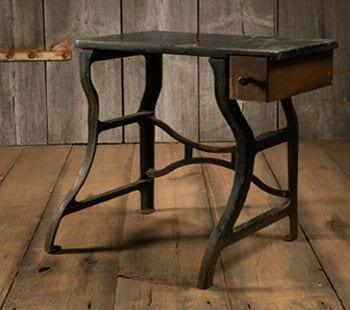 Wood and Cast Iron Desk
