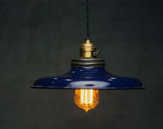 cobalt industrial light pendant