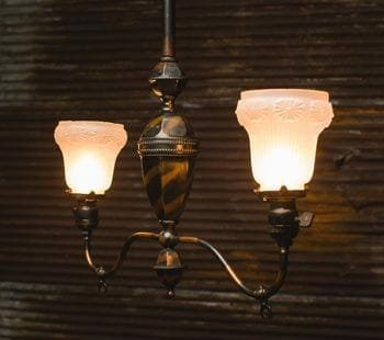 Two-armed Chandelier with Japan-finish
