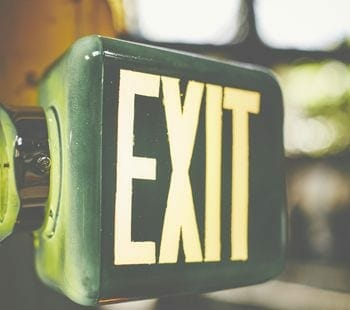 three-sided exit sign