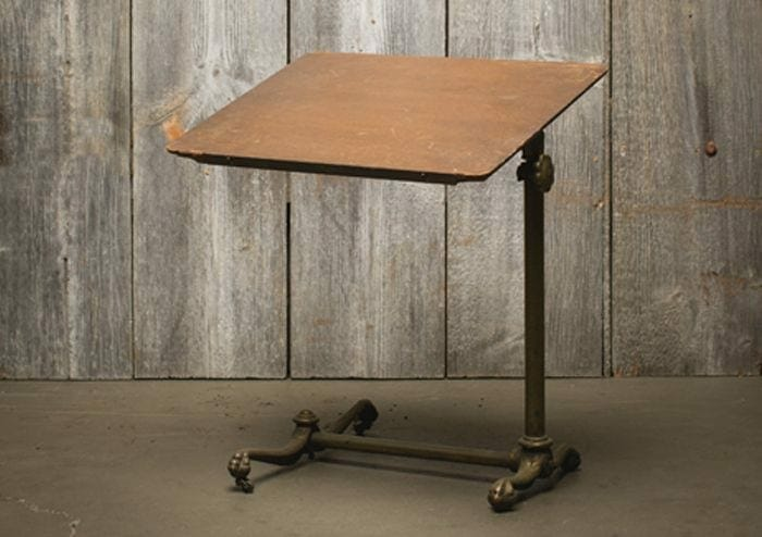 vintage adjustable reading table