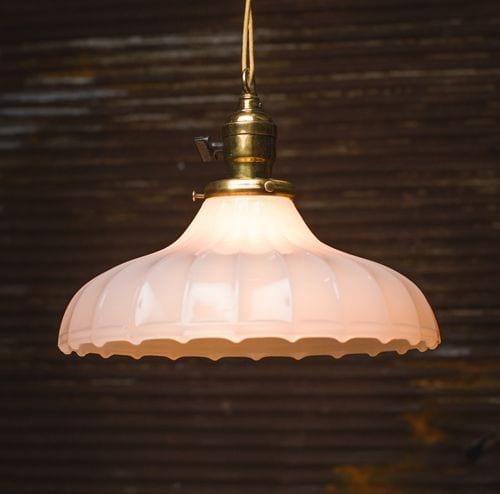 milk glass pendant light fixture