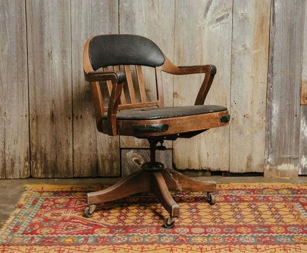 black chair with wheels