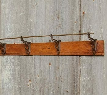 wintage wall-mount coat rack