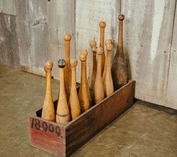 vintage wooden indian clubs