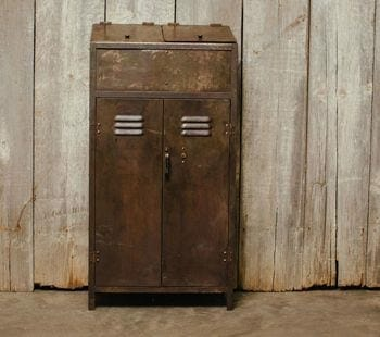 vintage metal storage locker