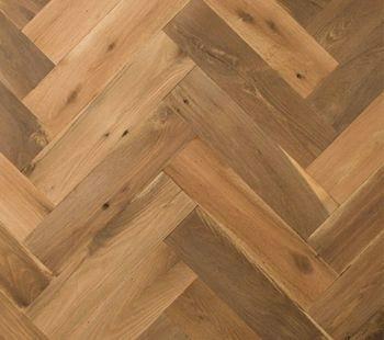 reclaimed oak herringbone