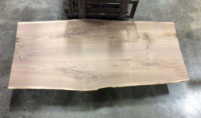 live edge black walnut slab