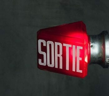 vintage french exit sign