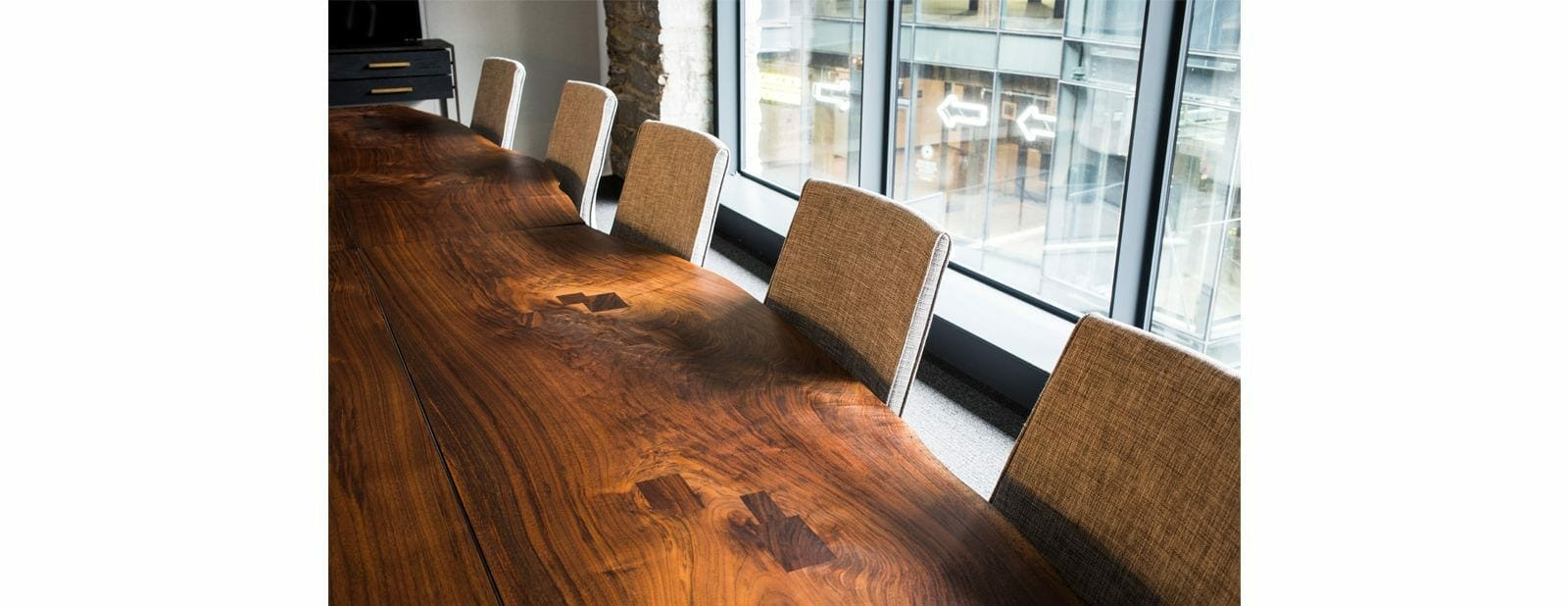 empire office conference table detail
