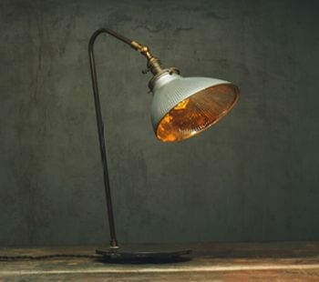 Large X-ray Reflector Shade Desk Lamp, Vintage with a Twist