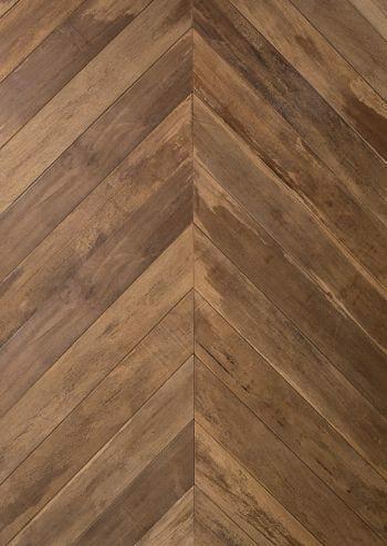 old face ipe chevron flooring