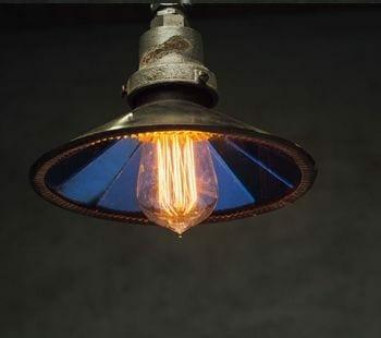 vintage mirrored reflector pendant