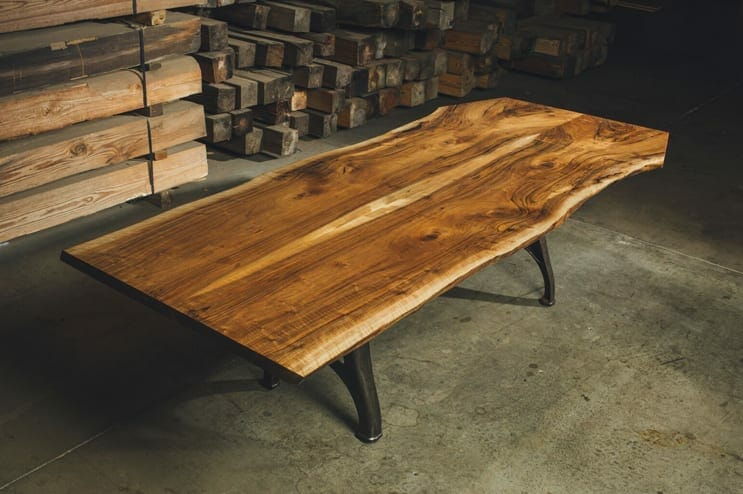 english walnut live edge table 1