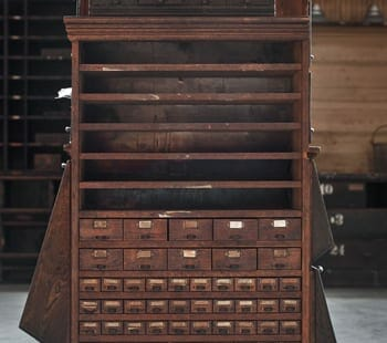 small hardware cabinet with shelves