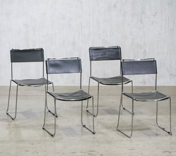 mid-century modern chrome chair set