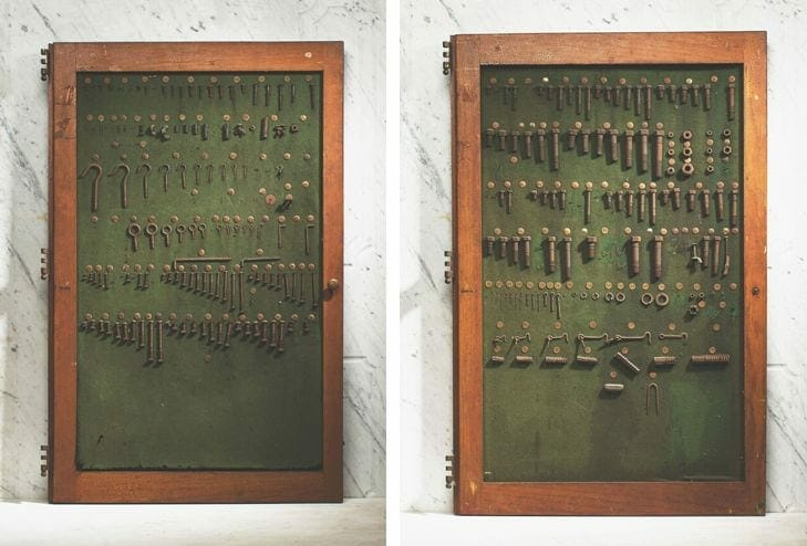 vintage hardware display