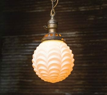 vintage globe lighting fixture