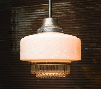 cast milk glass lighting fixture