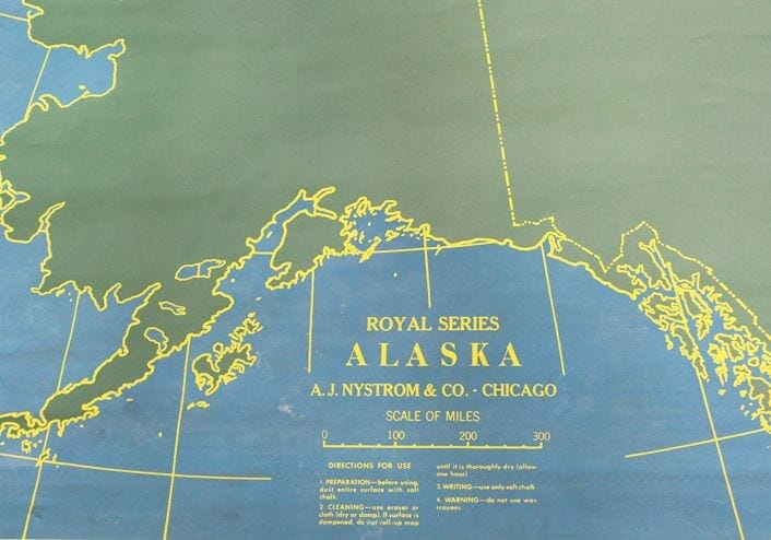 vintage chalkboard map