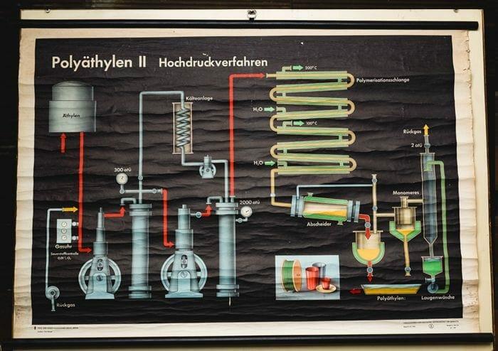 vintage German educational chart