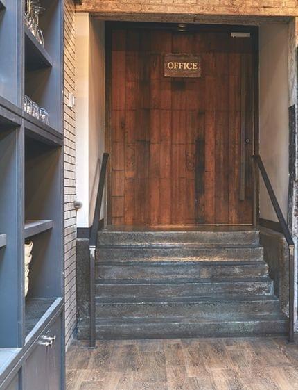 La Colombe flagship office door