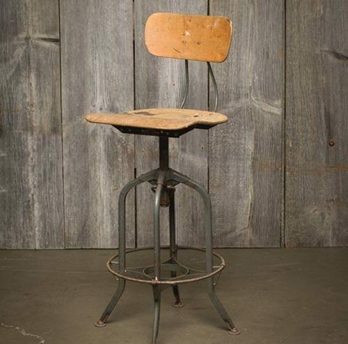vintage swiveling Toledo stool