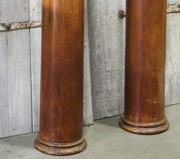 salvaged wooden columns