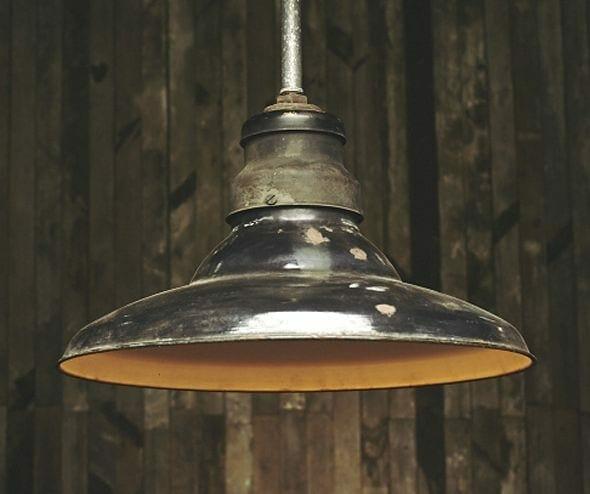 black enamel vintage light fixture