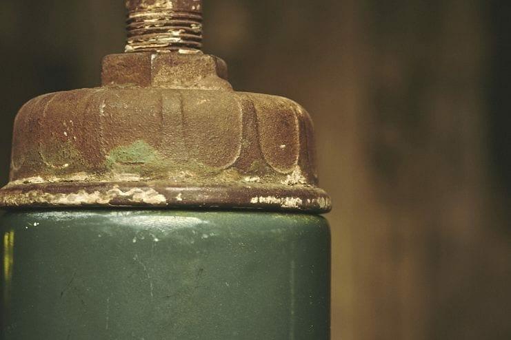 green enamel light fixture