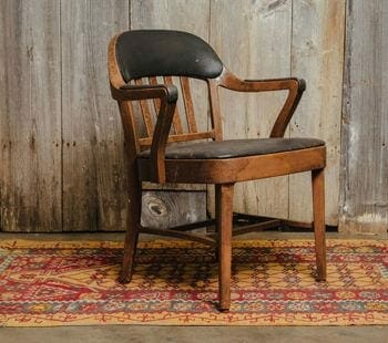 black upholstered chair
