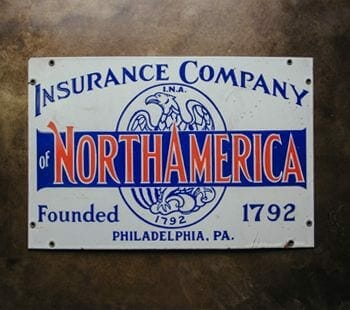 vintage insurance sign