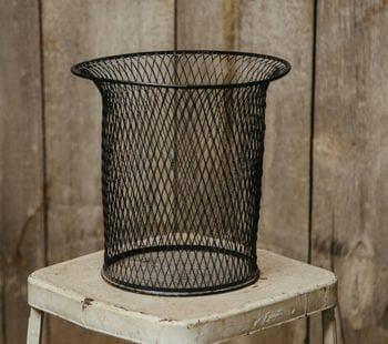 wire wastebasket