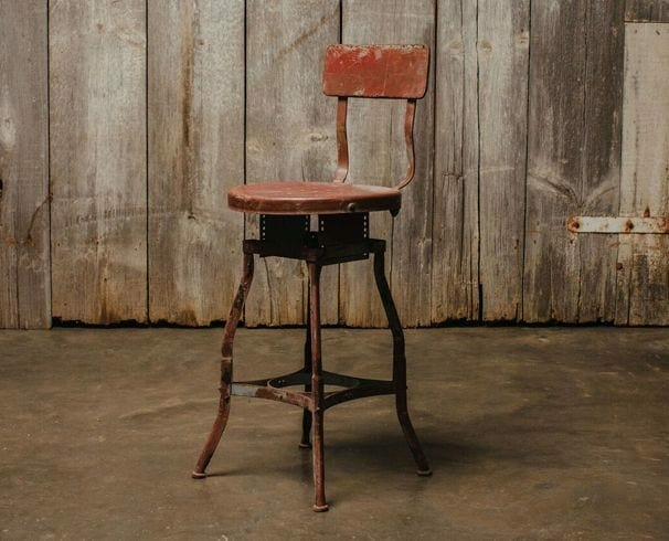 red toledo stool