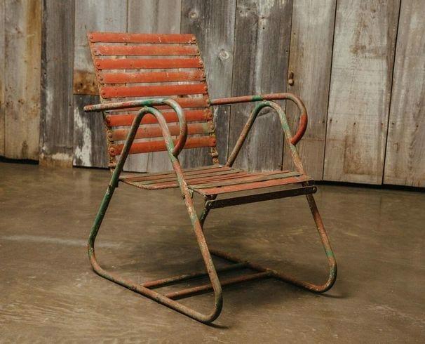 strap back chair
