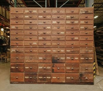 vintage hardware drawers