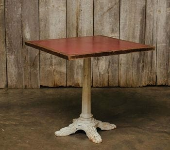 vintage table with cast iron base