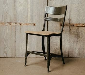 vintage wood and metal chair