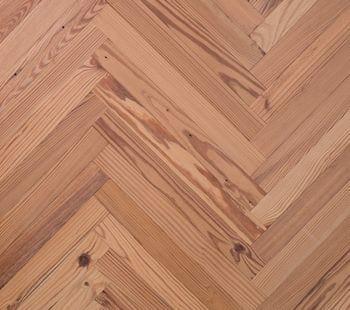 heart pine herringbone flooring