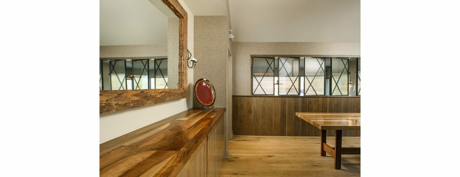 Almshouse custom cabinet and mirror