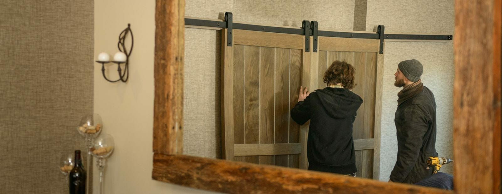 almshouse barn door installation