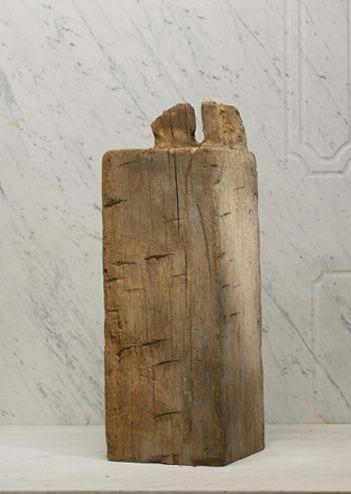 hand-hewn hardwood beam