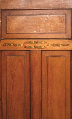 flower detail door