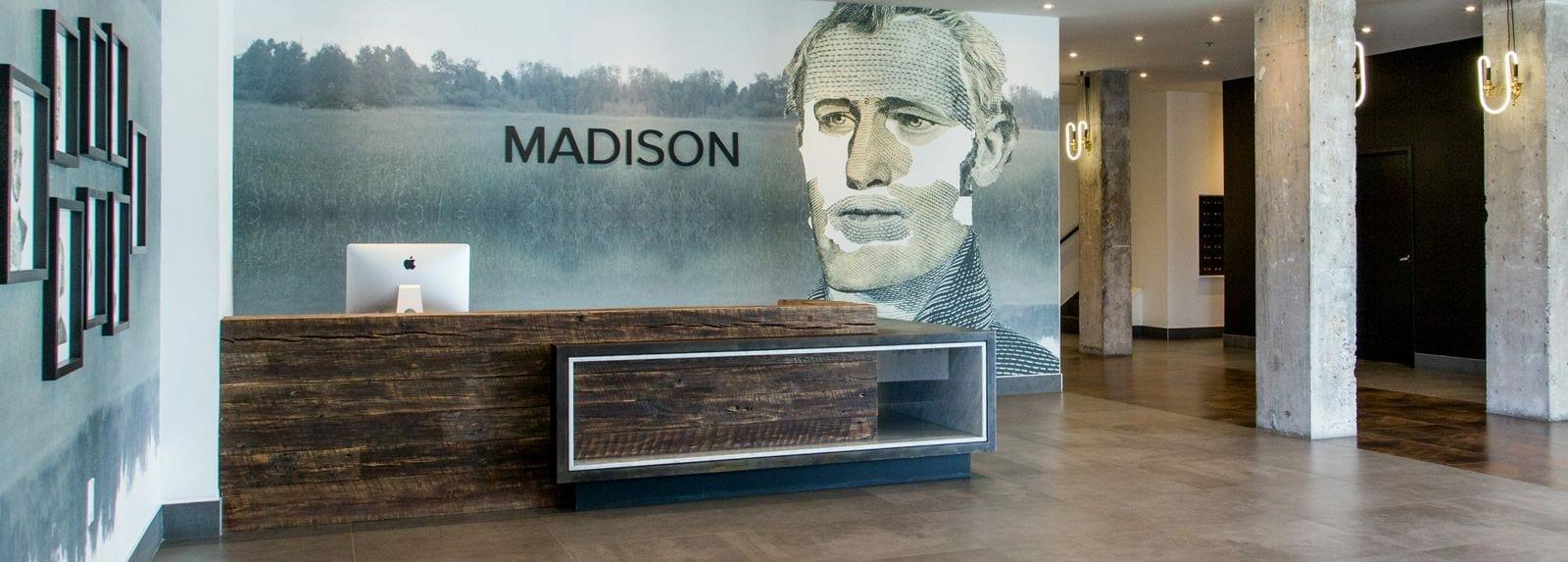 presidential city madison reception desk hero