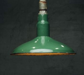 green industrial pendant light
