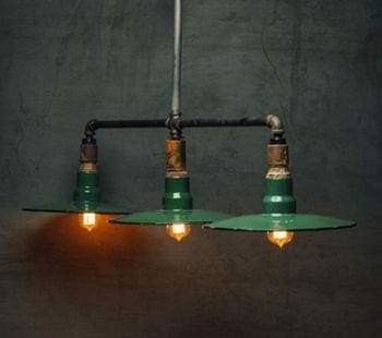 triple pendant industrial light