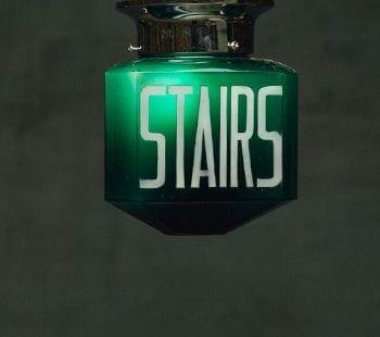 vintage green exit sign