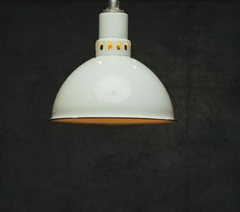 deep bowl white enamel industrial light