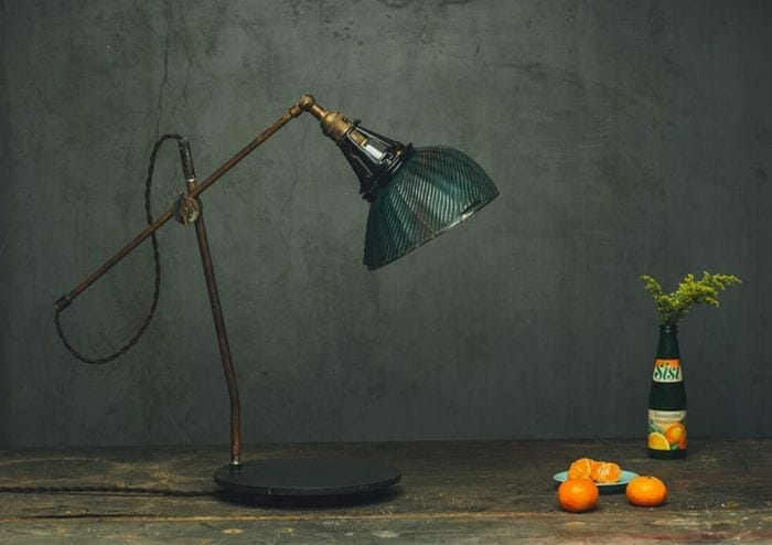 mercury glass x-ray shade articulated desk lamp